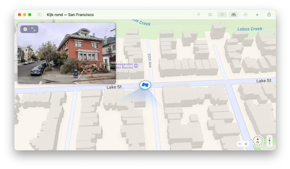 Kijk rond Apple Kaarten macOS Big Sur