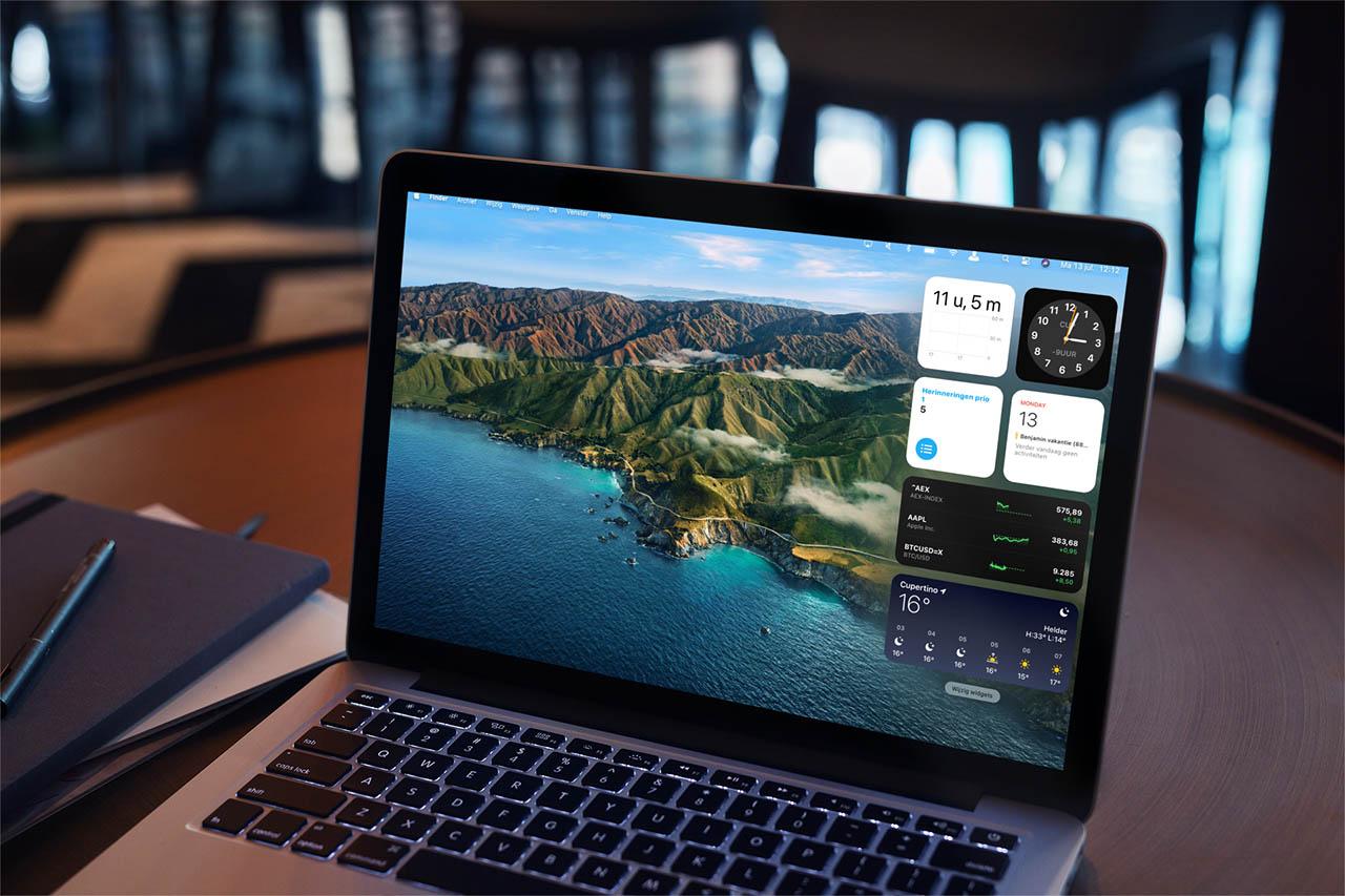 Widgets in macOS Big Sur