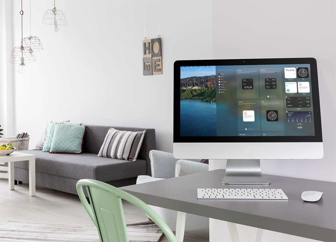 macOS Big Sur widgets aanpassen