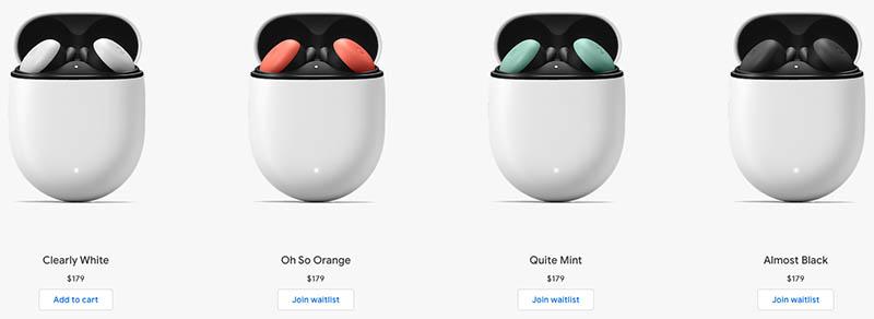Google Pixel Buds kleuren