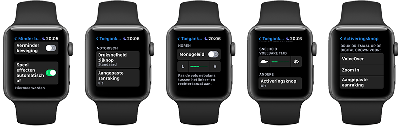 Toegankelijkheid op de Apple Watch