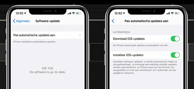 Automatische updates voor iPhone