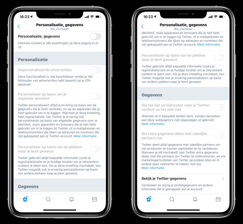 Personalisatie tracking delen met adverteerders op Twitter