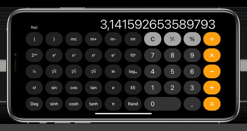 Wetenschappelijke rekenmachine iPhone