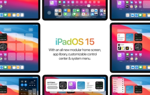 iPadOS 15 concept.