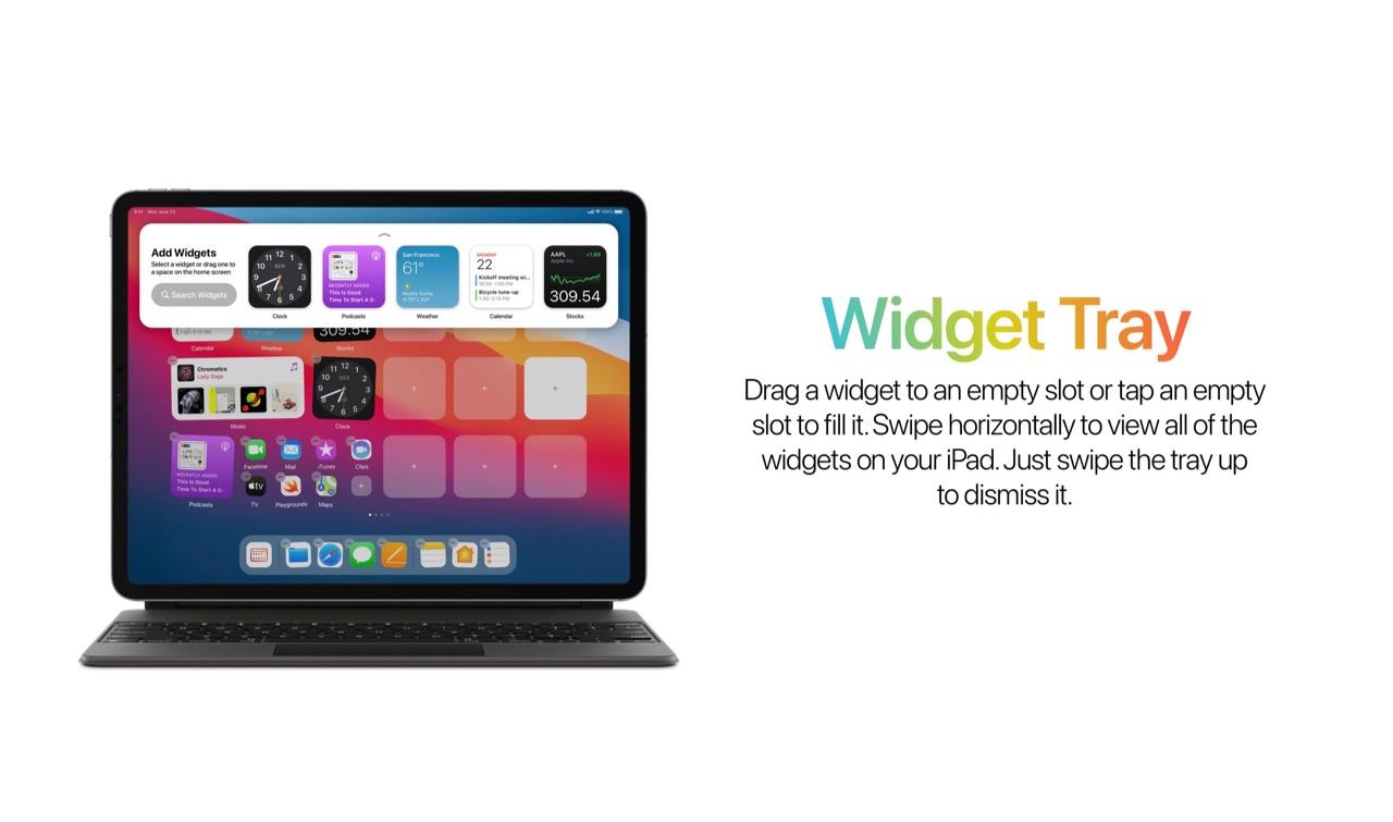 Concept iPad-widgets voor iPadOS 15.