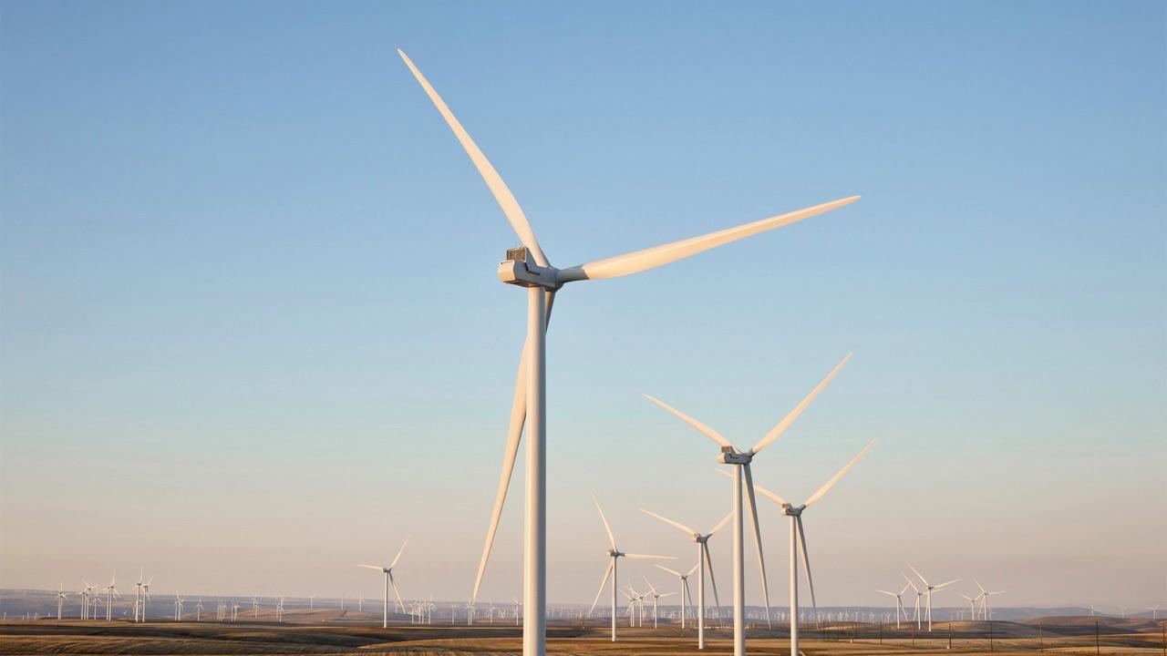 Windmolenpark van Apple in de VS.