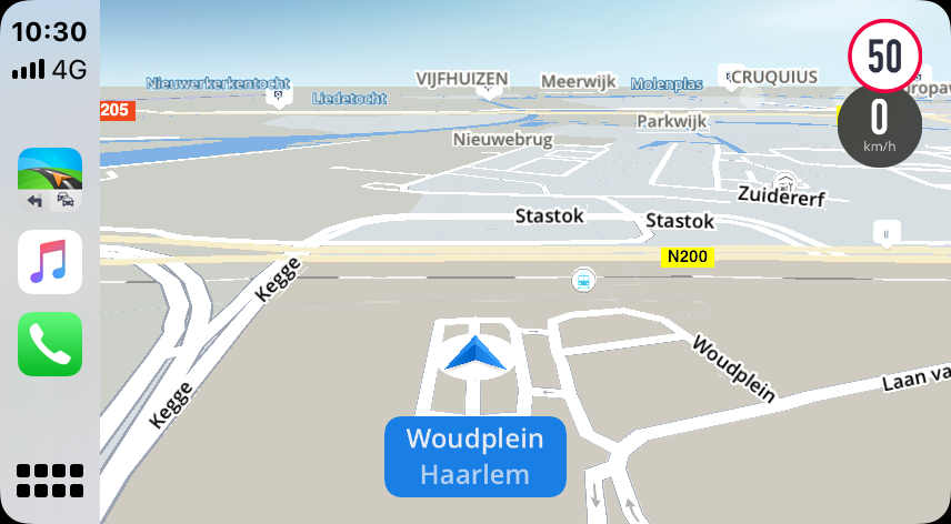 Sygic CarPlay navigatie.