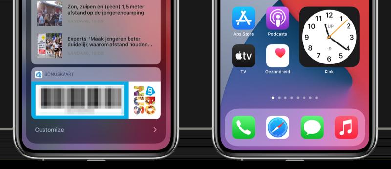 Customize knop klok-widget en Muziek-icoon