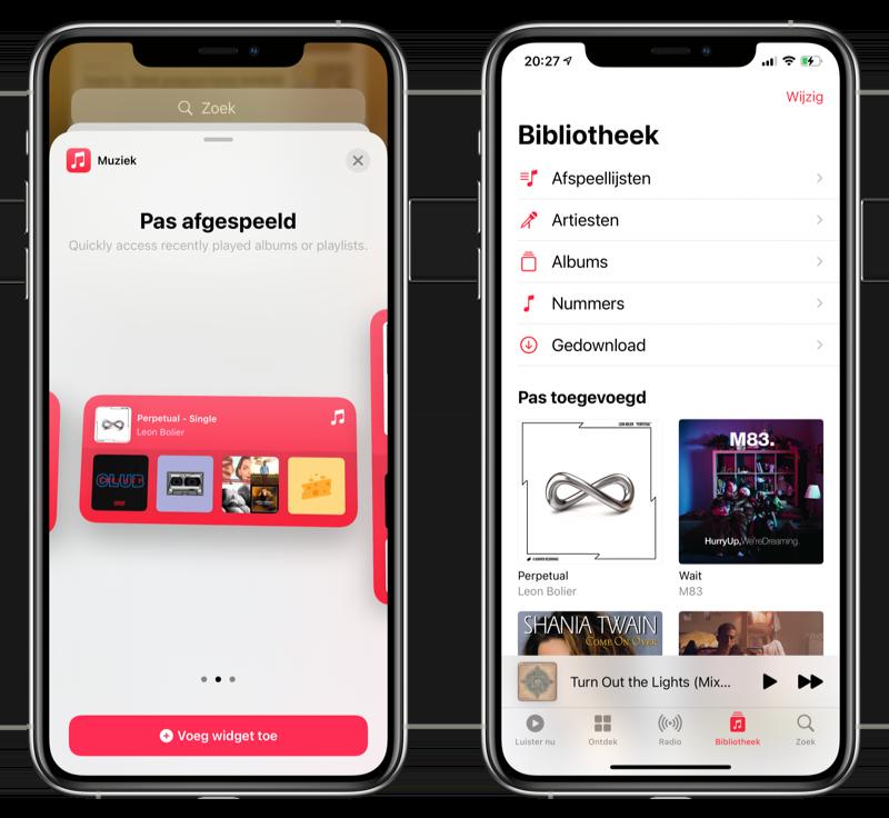 Muziek-app iOS 14 beta 3