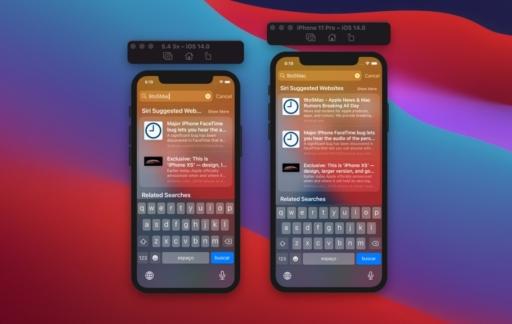 iPhone 12 weergave van iOS met toetsenbord op kleiner 5,4-inch display.