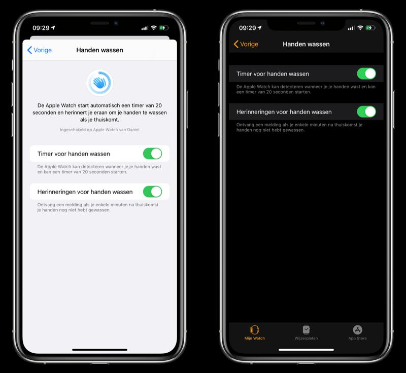 Handen wassen locatie iOS 14 beta 3