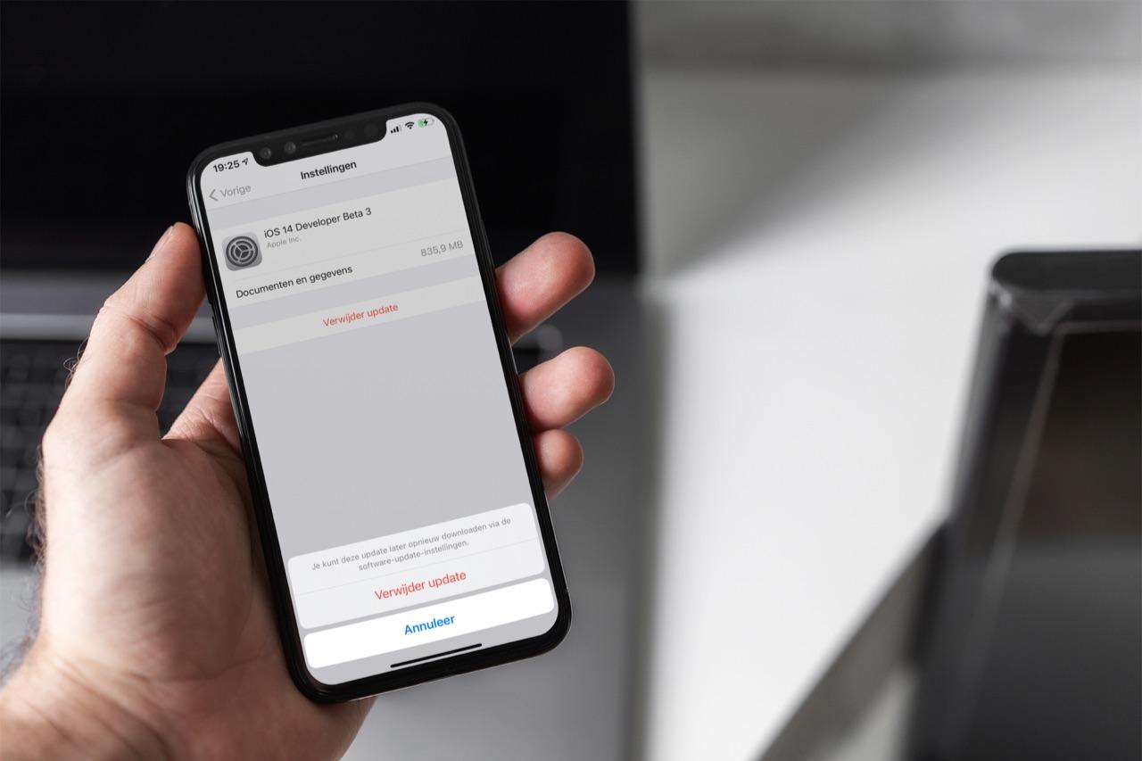 iOS-update verwijderen via instellingen.