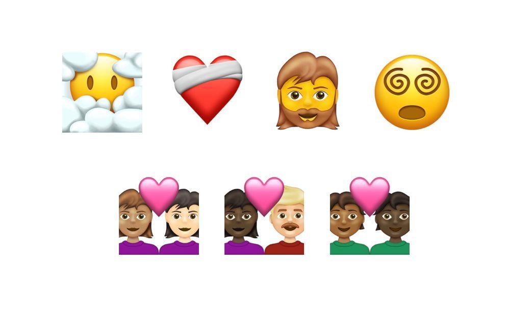 Emoji 13.1 selectie voor 2021.