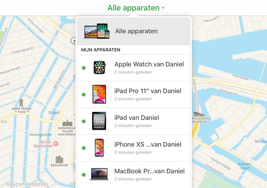 iCloud apparaten