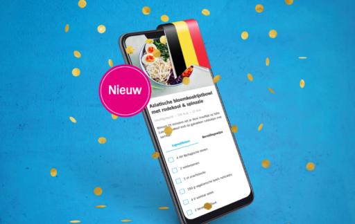Albert Heijn app in België.