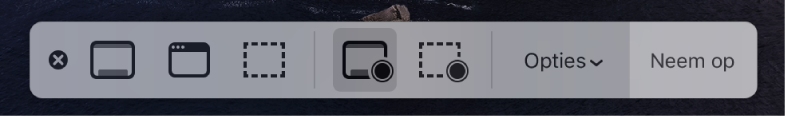 Schermopname Mac