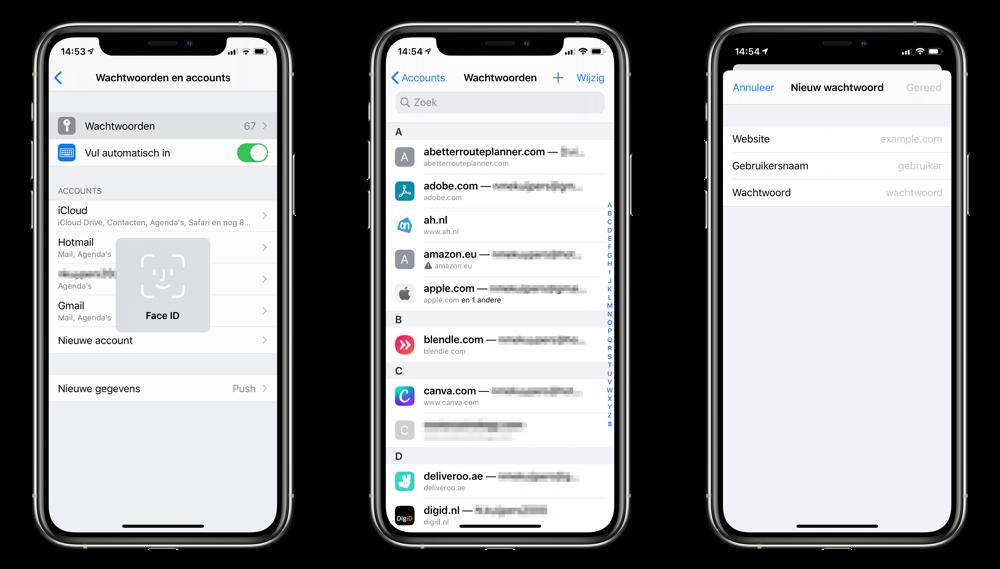 iCloud Sleutelhanger wachtwoord toevoegen