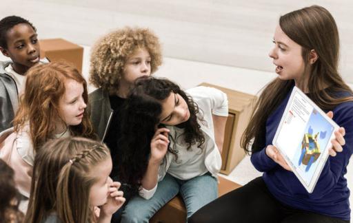 Apple Store met kinderen