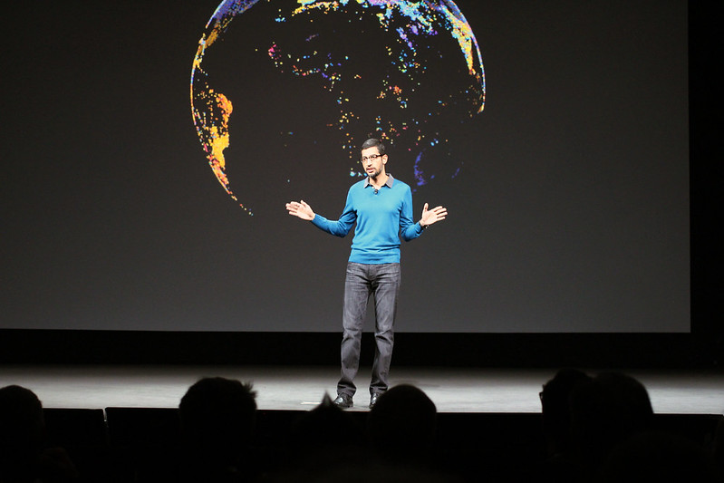 Sundar Pichai Google CEO (CC Flickr)