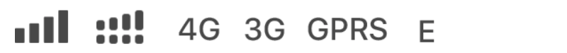 Mobiele verbinding symbolen breed