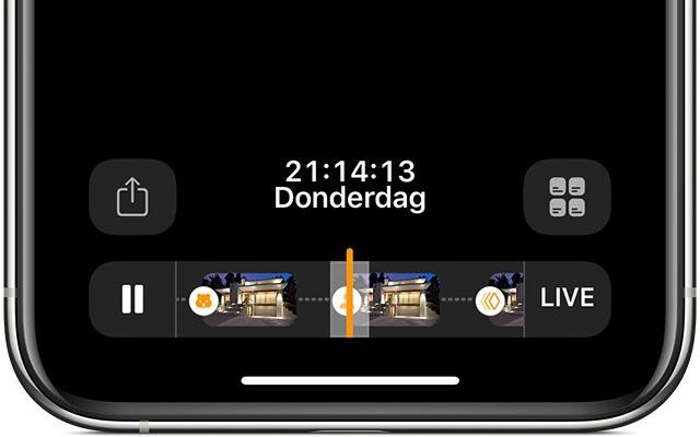 HomeKit Secure Video: tijden van opnames bekijken.