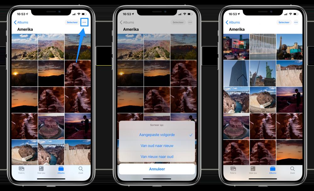 Foto's sorteren iOS 14