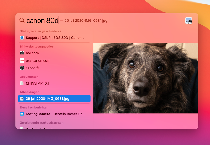 Zoeken metadata Spotlight Mac