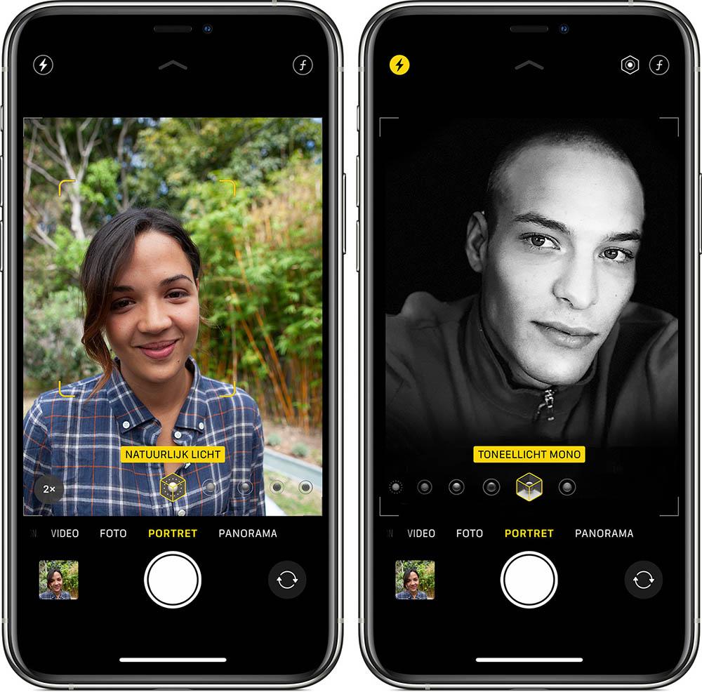 Opties voor iPhone-selfies