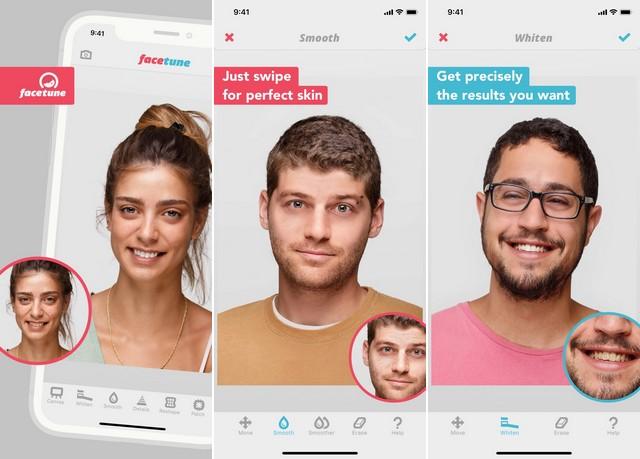 FaceTune-app voor iPhone