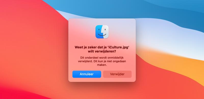 Bestanden direct verwijderen Mac