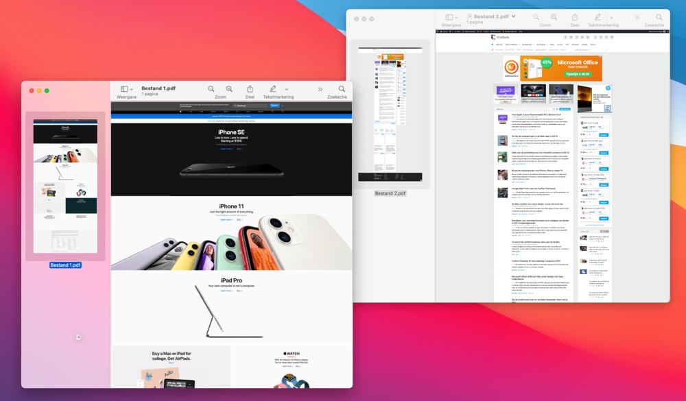 PDF-bestanden combineren met Voorvertoning