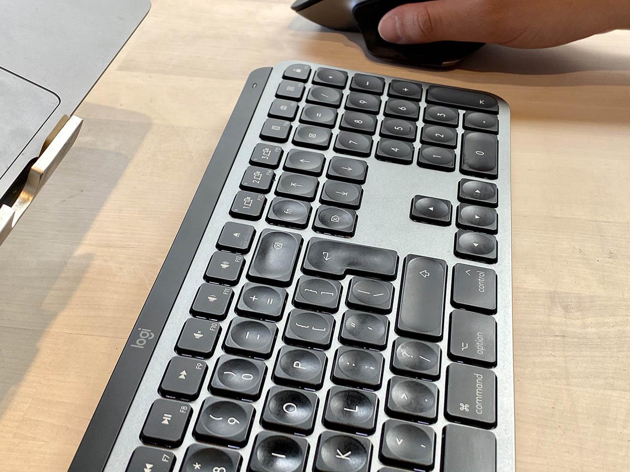 Logitech MX Keys in gebruik