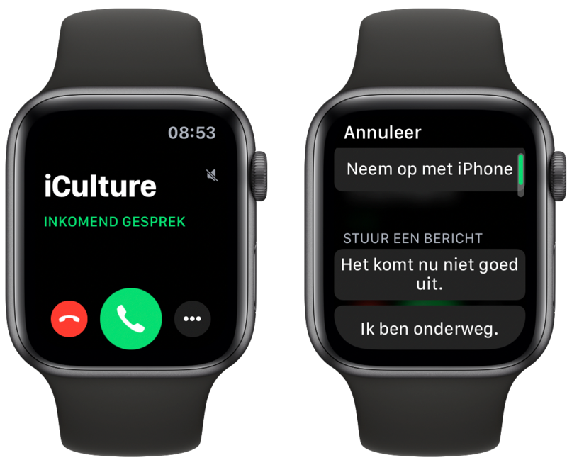 Bellen met Apple Watch.