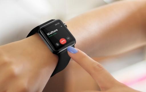 Bellen met je Apple Watch: gesprek ophangen.