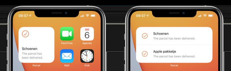 Parcel widget iOS 14