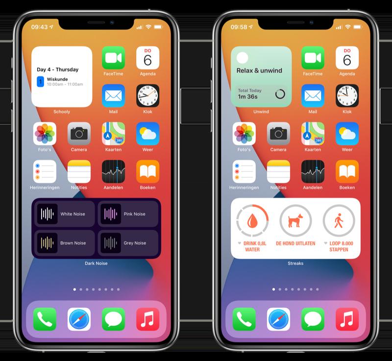 Widgets van derden iOS 14