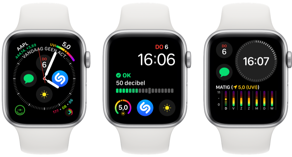 UV-index complicatie wijzerplaat Apple Watch