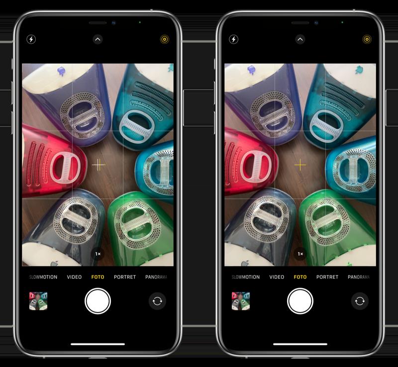 Waterpas camera iPhone