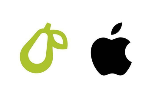 Prepear logo vs Apple