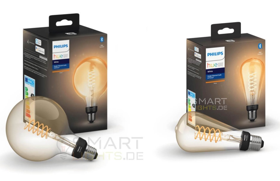 Philips Hue Giant Filament lampen.