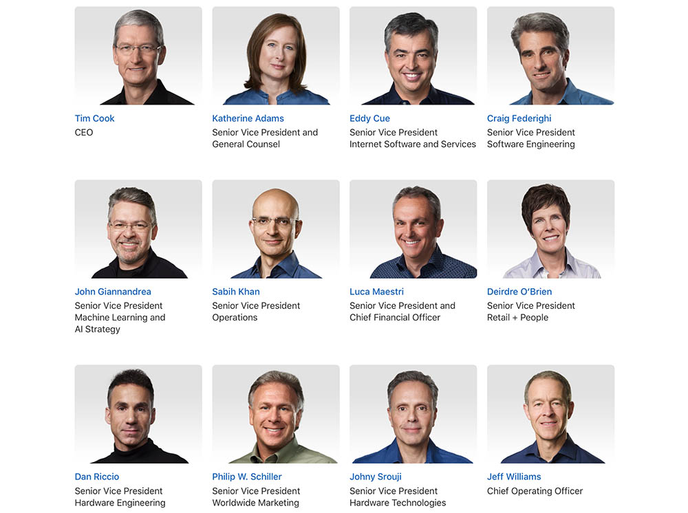 Apple managementteam
