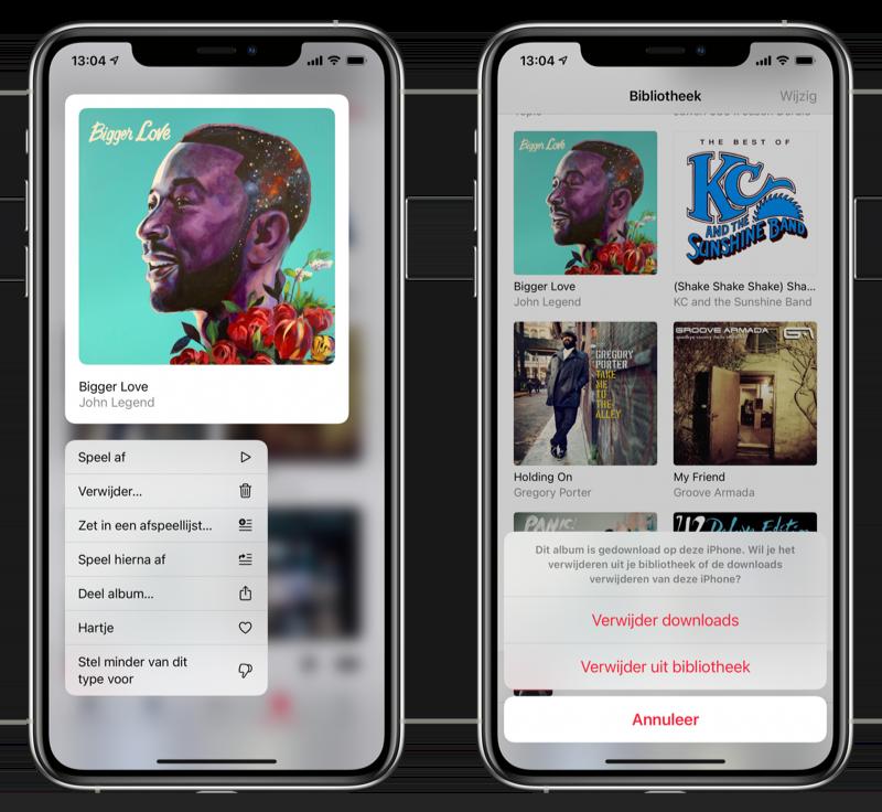 Muziek verwijderen iPhone