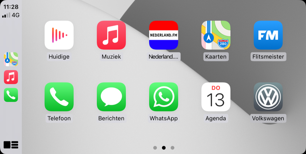 CarPlay app beginscherm