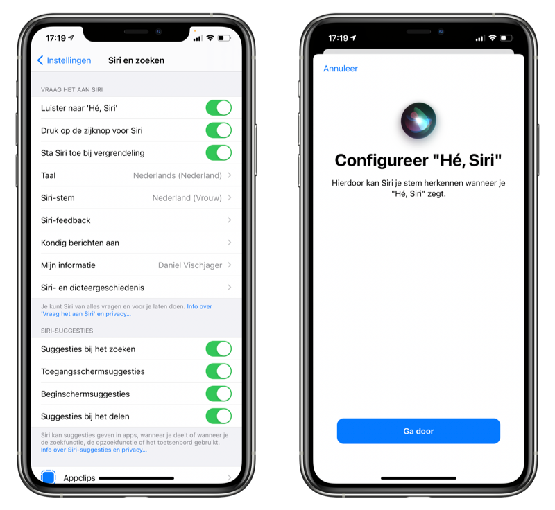 Hé Siri uitschakelen iPhone