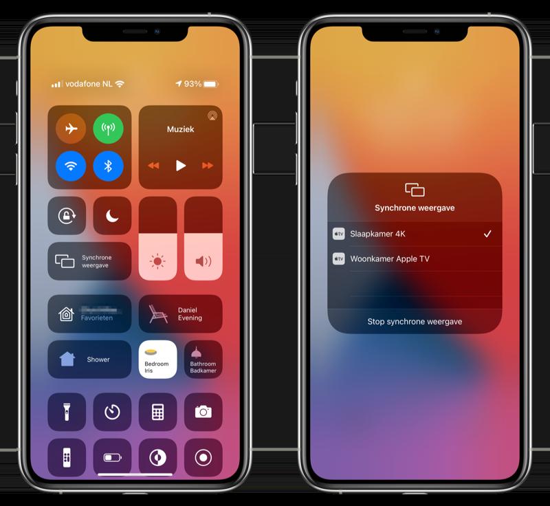 Synchronse weergave Apple TV