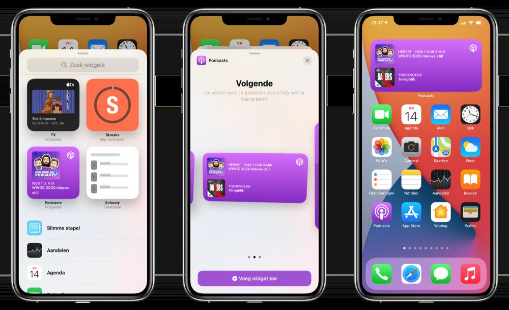 Widgets instellen iOS 14