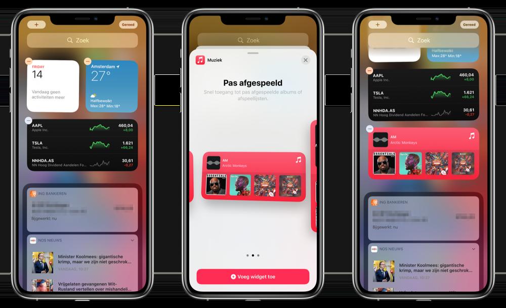 Widget overzicht iOS 14