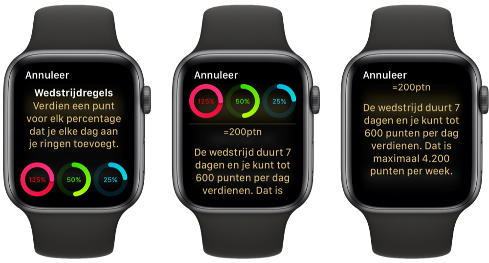 apple watch wedstrijd activiteit regels - How To Get 600 Points On Apple Watch Competition