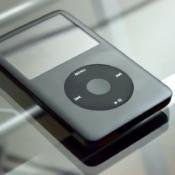 iPod classic in zwart.